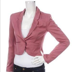 H&M pink cropped blazer sz 12